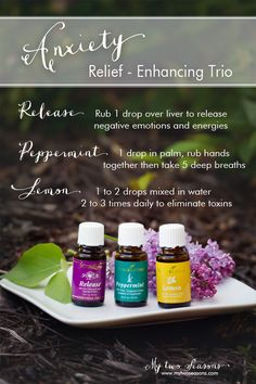 Anxiety Relief Enhancing Trio | Young Living Essential Oils  | http://www.theoildropper.com/amyhitchings/