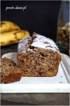 bezglutenowe ciasto bananowe Sweet Bread, Sugar Free, Banana Bread, Food And Drink, Low Carb, Gluten Free, Cookies, Desserts, Buns