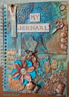 Mixed media Journal #scrapping4funchallenges Mixed Media Journal, Mini Books, Creative, Frame, Picture Frame, Frames