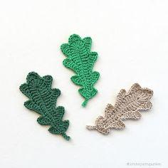 Oak leaves - free crochet pattern in English and Swedish from In the Yarn Garden