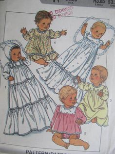 See Sally Sew-Patterns For Less - Babies Layette Baby Christening Gown Dress Robe Vintage Style 4238 Pattern, $9.99 (http://stores.seesallysew.com/babies-layette-baby-christening-gown-dress-robe-vintage-style-4238-pattern/)