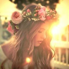 Boho wedding Hair - flower crown
