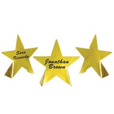 Big Discounts on Foil Star Place Cards (24 each) - Hollywood themed Party Supplies and Party Decorations at Bulk Party Supplies