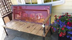 Recycled Jeep Pickup Truck Tailgate Bench — artifacts-on-main