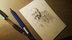 Я нечаянно нашёл фотобумагу на которой удобно рисовать. Это 10 на 15.  #drawing #illustration #portrait #sketch #pencil #sketchbook #art #artwork #painting #eskiz #портрет #рисунок #карандаш #набросок #эскиз #белковский