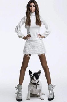 Dog and model
