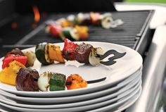 """With these clever kabob skewers, your food can literally """"stick around"""". Perfect for grilling smaller cuts of fish, meats and vegetables The circular design mak"""