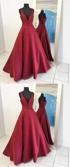I love the color burgundy. This would be a beautiful prom dress!