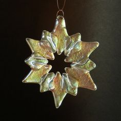 Iridized fused glass star