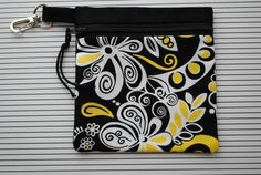 Women's Golf Tee Bag  Yellow and Black by pcowden2001 on Etsy, $8.99