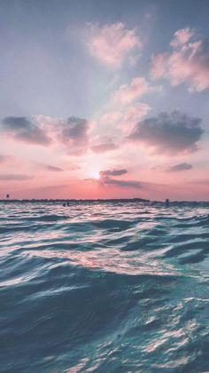 Iphone Wallpaper - Sunset Sea Sky Ocean Summer Green Water Nature - Wallpaper World