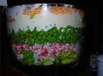 7 Layer Salad - This is easy and low carb and was a favorite at family parties when I was young.