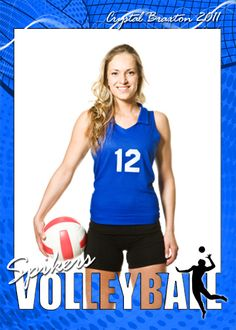 Sports Volleyball Cutouts Vol 14 Photoshop and Elements Templates -