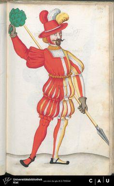 Nürnberger Schembart-Buch Erscheinungsjahr: 16XX  Cod. ms. KB 395  Folio 201