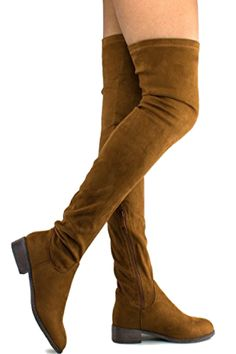Comfy Vegan Suede Block Heel Side Zipper Thigh High Over the Knee Boots. Versatile, thigh-high boots have a simple, sleek upper made out of vegan suede and a low, stacked heel adds some perfection to your look. Perfect for festivals and year round wear! ENDLESS OUTFIT COMBINATIONS: Outfit and pair these boots from dusk until dawn! From jeans to shorts, dresses and skirts of any length, these boots are a surefire way to top off any outfit.  Cruelty Free #fashion #style #boots (affiliate)