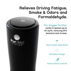 The portable air purifier!Perfect for the car, office, bathroom, etc.Your drive to work can be a killer – literally!With each breath we likely inhale many of the pollutants of the road, including:Emissions from other vehiclesManufacturing/factory dischargeAsphalt gasesEnvironmental pollen Office Safe, Car Office, Hepa Filter, Air Filter, Portable Air Purifier, Space Up, Charcoal Filter, Save Energy, Filters