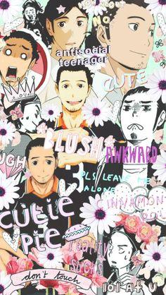 Haikyuu Asahi= me Haikyuu Karasuno, Nishinoya, Haikyuu Anime, Anime Boys, Manga Anime, Anime Art, Anime Wallpaper Phone, Haikyuu Wallpaper, Animes Wallpapers