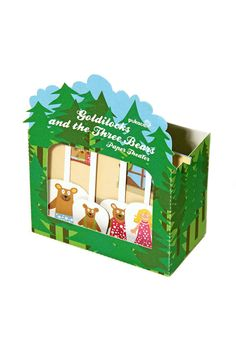 Goldilocks and the Three Bears Paper Theater - DIY Paper Craft Kit - Paper Toy - Puppets