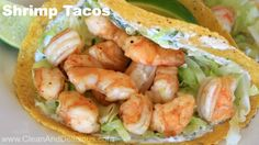 Shrimp tacos that look really easy to make.