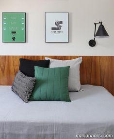 Detalhes | Foto para Degradê Arquitetura @degrade_arq • Apartamento em SP Suites, Bed Pillows, Pillow Cases, Bedroom, Home, Instagram, Bed Rest Pillow, Led Lamp, Neutral Tones