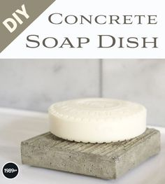 How to make a modern concrete soap dish without borders.