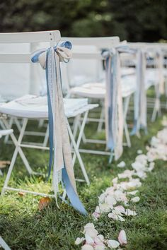 Silk and lace ribbons instead of flowers for the garden ceremony Photo Outdoor Wedding Inspiration, Wedding Ideas, Instead Of Flowers, Four Seasons Hotel, Wedding Decorations, Aisle Decorations, Luxury Wedding, Wedding Designs, Ribbons