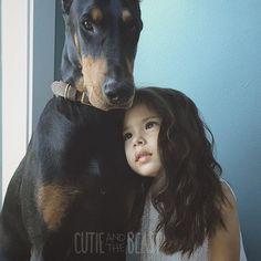 Cutie Siena and her Doberman