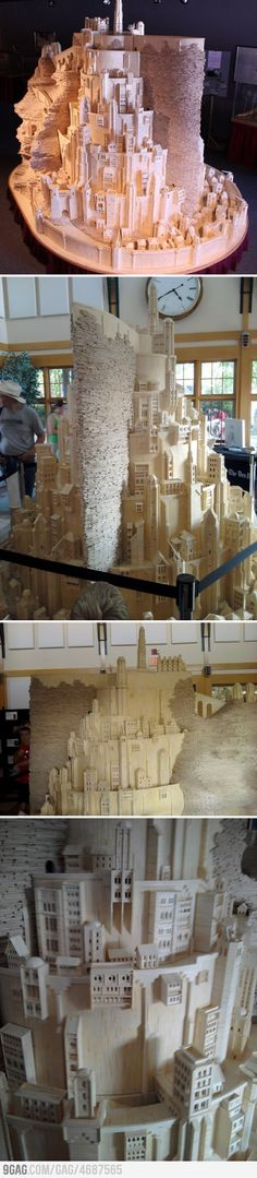 Minas Tirith made from matchsticks. Hear that? That's the sound of my mind being blown.
