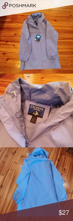 Rain Coat NWT NWT lavendar long sleeve Galyans Rainwear from Dicks Sporting Goods. Really cute rain jacket. galyans Jackets & Coats