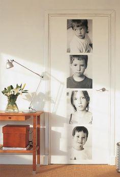 porta com fotos adesivadas