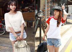 denim shorts #koreanfashion #kfashion #shorts