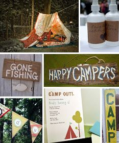 Modern Country Designs: Backyard Camping Party Ideas
