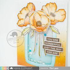 mama elephant   design blog Fade Up, Mama Elephant Cards, You Are Wonderful, Embossed Paper, Elephant Design, Shaker Cards, Cards For Friends, Diy Scrapbook, Decor Crafts