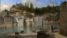 gemälde salzburg - Google-Suche Salzburg, Landscape Paintings, Mansions, House Styles, Home, Google, Searching, Manor Houses, Villas