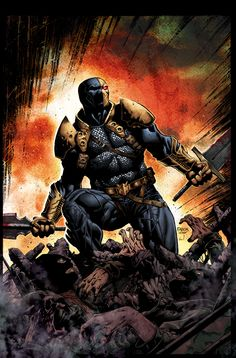 Deathstroke by Jason Fabok   this is one of my favorite DC villians