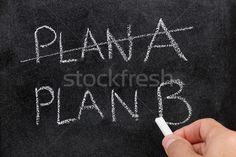 Als plan A niet werkt dan naar plan B
