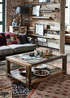 The Mary Rose Coffee Table is made from reclaimed wood for a  unique and rustic appeal.
