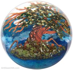 Tree Series paperweights by Cathy Richardson/Colin Richardson