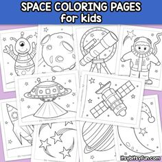 Kids for Worksheets: Free Printable Coloring Pages for Kids – Itsy Bitsy Fun Planet Coloring Pages, Space Coloring Pages, Flower Coloring Pages, Animal Coloring Pages, Coloring Sheets, Coloring Books, Free Printable Coloring Pages, Coloring For Kids, Coloring Pages For Kids