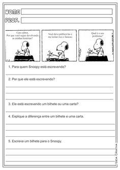 Produção e Interpretação de Texto Gênero Textual Carta/Bilhete Atividades Educativas