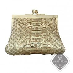 FERI MOSH genuine python change purse with Nappa leather lining. GWT residual income opportunity