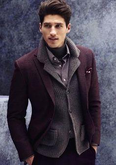 How to Wear a Burgundy Blazer (53 looks) | Men's Fashion