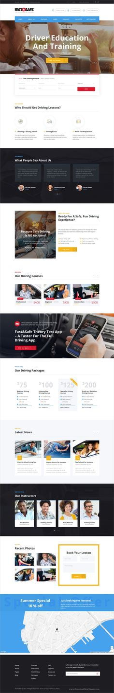 Fast & Safe is a professional design responsive #WordPress theme for #driving schools and #training institutes website download now➩ https://themeforest.net/item/fast-safe-driving-school-wordpress-theme/19600263?ref=Datasata