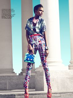 Arlenis Sosa by Kevin Sinclair for Harpers Bazaar Mexico May 2012