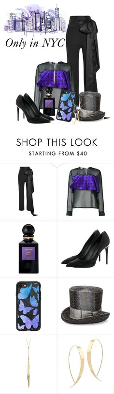 """Quirky Bag Contest"" by shamrockclover ❤ liked on Polyvore featuring J.W. Anderson, Maki Oh, Tom Ford, Louis Vuitton, Casetify, Judith Leiber, Gorjana and Lana"