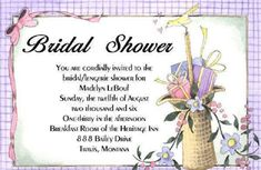 Bridal Shower Invitation Wording For Wishing Well