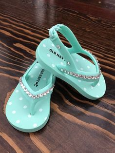 Lavender or Aqua Bling Baby Girl Sandals by GirlieBlingByJess
