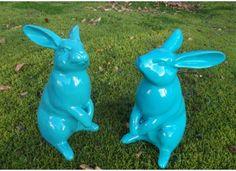 Objet déco design lapin en résine TexArtes chez www.ksl-living.fr