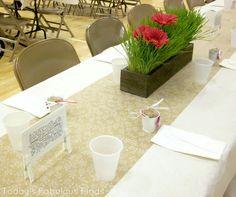 Relief Society Dinner - table ideas
