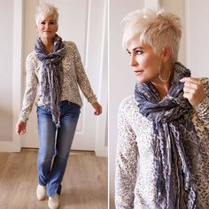 Tis the season of SWEATERS and SCARVES! On my blog today, I've linked all kinds of goodness! Just FYI, the link to my blog is in my profile! . . . #sweatersandscarves #sweaterseason #anthropologie #jcrew #framejeans #vince #whitebooties #mystyle #chicover50 #over50style #50plusandfabulous #fabover50 #ageisjustanumber #ageisnotavariable #fashionblogger #utahblogger #styleinfluencer #wiw #ootd #stylefiles #aboutalook #outfit #platinumpixie #pixiecut #shorthair #xoxo